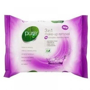 Pure Wipes 20'-Make Up Remover