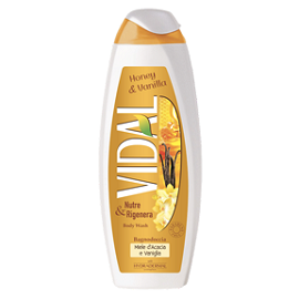 Vidal Body Wash 750ml - Honey & Vanilla