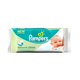 Pampers Wipes 64's - Natural Clean