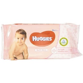 J & J Huggies Wipes 56's- Soft Skin