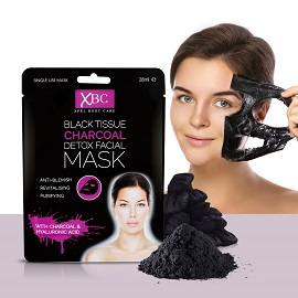 XBC black Tissue Charcoal Detox Facial Mask