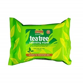 Beauty Formulas Tea Tree Wipes 30's